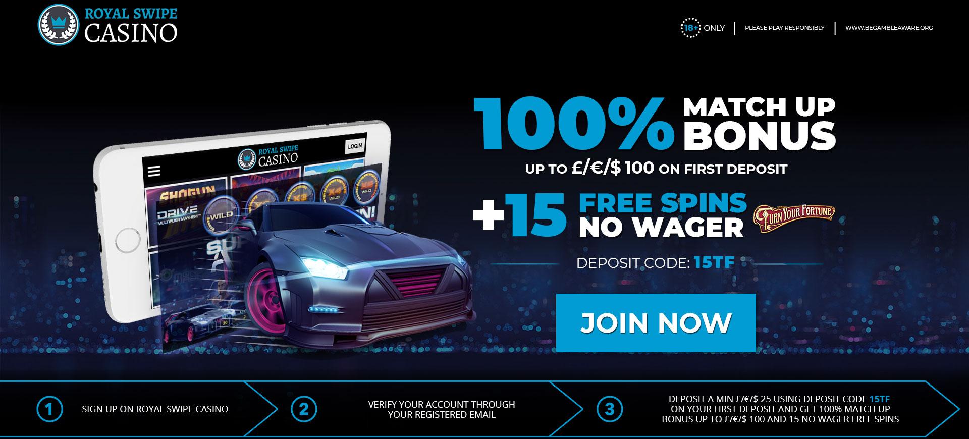 Promotion Promotion 100% + 15FS