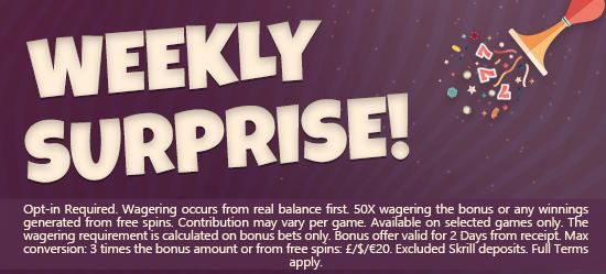 Wonderful Weekly Winning Rewards